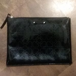 Kate Spade Black Patent Heart Design Bag